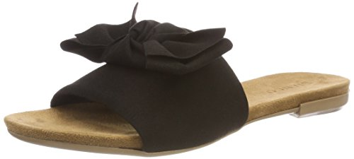 Bianco Damen Cute Bow Slipper, Schwarz (Black), 39 EU