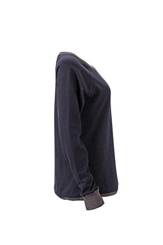 Sweat-shirt basique JamesandNicholson Dark-Navy/Black-Melange