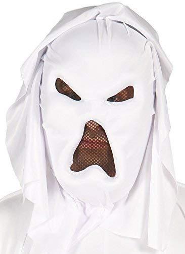 Ghost Kostüm Ninja - Fancy Me Herren Damen Weiß Ghost Ninja Kapuze Halloween Kostüm Kleid Outfit Zubehör