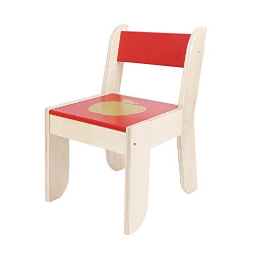 Labebe Stuhl für Kinder-Blaue Farbe für 1-5 Jahre alte Kinder, Massivholz, Gebrauch für Malerei / Lesung / Gruppenspiel im Klassenzimmer und Haus, Paare mit orange Eulen-Tabellen-Satz, kreatives Geburtstags-Geschenk