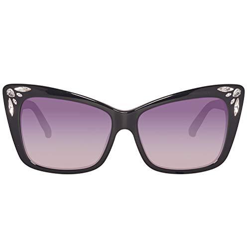 Swarovski Damen SK0103-5601B Sonnenbrille, Schwarz (Shiny Black), 56