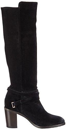 Fred de la Bretoniere Damen Langschaft Stiefel mit Blockabsatz Schwarz (Black)
