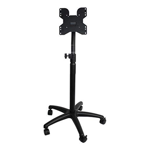 SuRose TV Fernseher Ständer Höhenverstellbar Mobiler TV-Ständer mit fünf Rädern, Geeignet für 14-37 Zoll LCD-Fernseher. Schwarz -