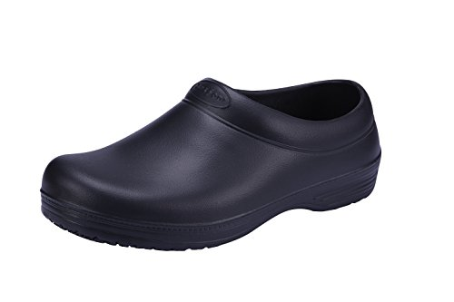 SensFoot Kochschuhe Gartenschuhe Rutschfeste Arbeitsschuhe Unisex Schwarz (S(EU 38)) (Slip Resistant Männer Schuhe)
