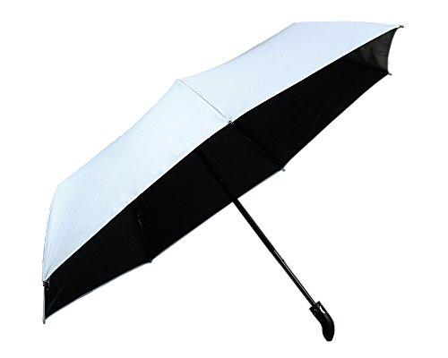 Regenschirm, Regen und Sonnenschirm Automatisch Faltbar mit Schwarzer Anti-UV Beschichtung für Winddicht, Regenschutz & 99{8eec492f734f7834f8c4510ffe5e9baca49331693b922a41413e4d3bf3550f72} UV Schutz, UPF50 + Reise-Regenschirm(Hellblau) YS014
