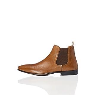 FIND Herren Albany Chelsea Boots, Braun (Tan), 46 EU