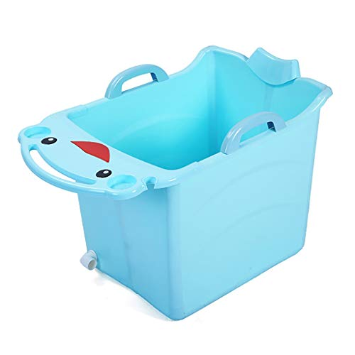 Faltende Badewanne Folding Thermal Kinder Badewannen Folding Thermal Kinder Badewannen Kinder Folding Badewanne Baby-Hocker, 73 * 45 * 50cm, Blau, Rosa (Color : Blue)