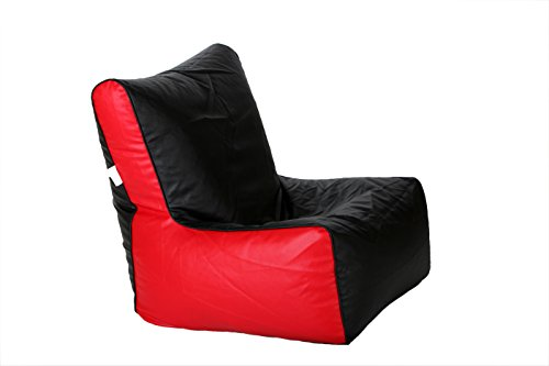 Comfy Bean Bags XL Bean Chair without Beans (Black and Red)  available at amazon for Rs.399