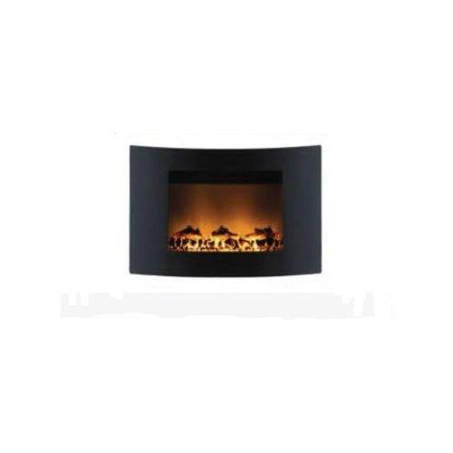 Ardes ar372b camino elettrico da parete camiwall effetto fiamma ceppo ardente con telecomando 2 potenze regolabili timer 7,5 h, nero