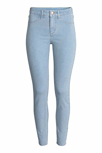 2ceb0c03 Ex Zara Ladies Skinny Mujer Ajustado Algodón Denim Azul Vaqueros Elásticos  - Lavado de Color Azul