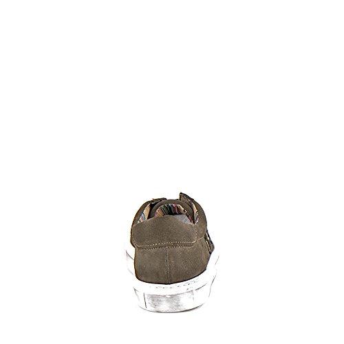 Felmini - Damen Schuhe - Verlieben Fame A290 - Militärische Turnschuhe - Echte Wildleder - Grün Grün