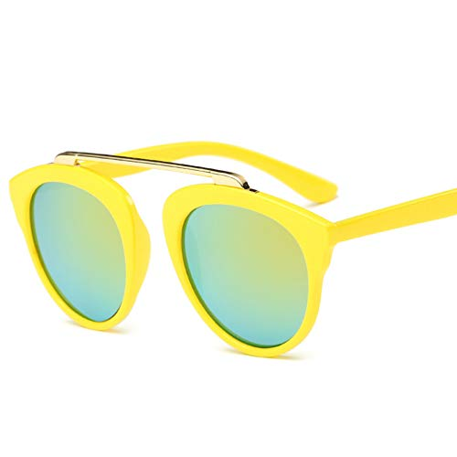 Taiyangcheng Vintage Brille Kids Sonnenbrille Metall Kinder Sonnenbrille Jungen Mädchen Baby Sonnenbrille,Gold