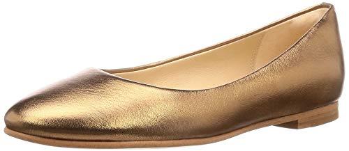 Clarks Damen Grace Piper Geschlossene Ballerinas, Silber (Bronze Metallic), 39.5 EU (Bronze-loafer)