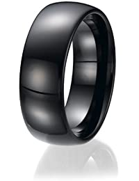 8mm Bling Jewelry Black Tungsten Wedding Band Ring
