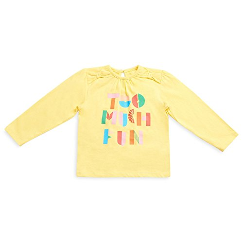 MINI KLUB Baby Girls'Plain Regular Fit T-Shirt (910102F_Yellow_18-24M)
