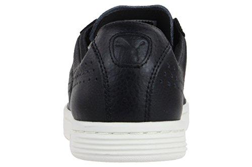 Puma Court Star Leather Sneaker Men Trainers black 356917 03 Black