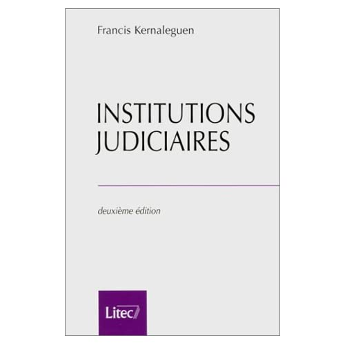 Institutions judiciaires (ancienne édition)