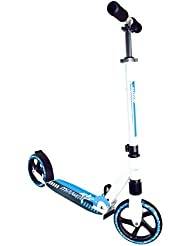 authentic sports & toys GmbH Aluminium Scooter Muuwmi SFS 205 mm, Doppelfederung, weiß/blau