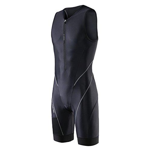 My Kilometer Triathlon Herren Shorts 22,9cm blau mit zwei Taschen, chamois für Langstrecken-Tri Race, Running Short, Badeanzug