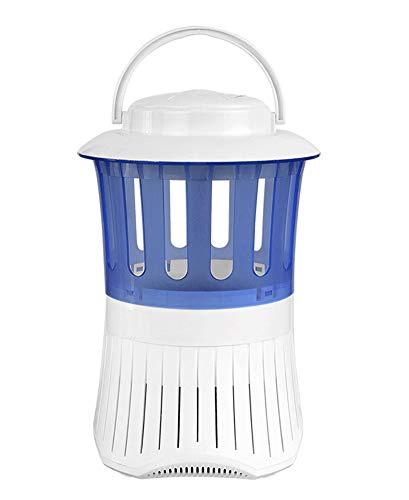 Fallen Lagerung Bett (YANGYA Elektronische Moskito-Mörder-Lampe Zapper Silent Insect Killer UV-LED-Moskito-Falle Lampe für Schwangere Frauen Babys Home Office Outdoor Camping Reisen-White+Blue)