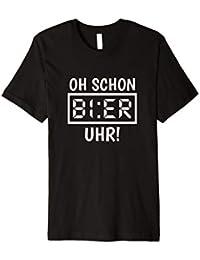Oh Schon Bier Uhr T-Shirt Lustiges Saufshirt