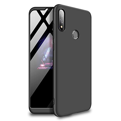 Mybloo Schutzhülle für Asus Zenfone Max Pro (M2) Hülle, [3 in 1] 360 Grad R&umschutz [Anti-Kratz] [Stoßfest] Matt Ultra Slim PC Hard Case für Asus Zenfone Max Pro (M2), schwarz