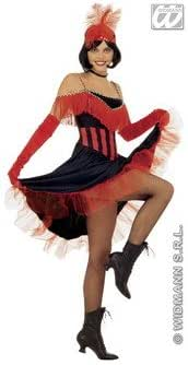 Black /&Red Burlesque Moulin Rouge Can Can Tutu Fancy Dress Costume Corset Outfit
