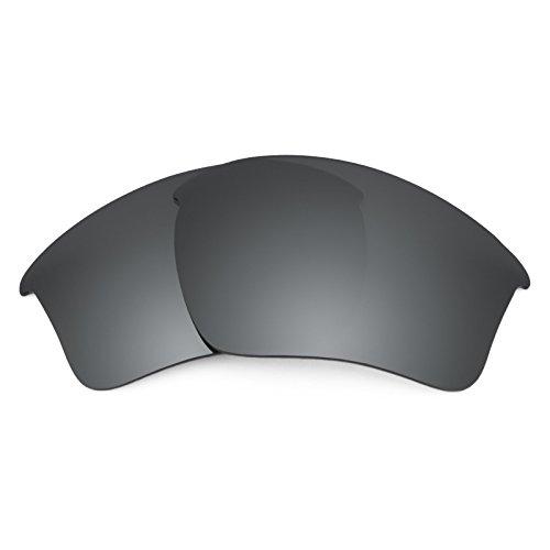 Revant Ersatzlinsen für Oakley Half Jacket 2.0 XL Polarisierung Elite Schwarz Chrom MirrorShield®