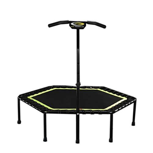 Boden Trampoline Outdoor Indoor Bungee Sport Jumping Fitness Robustes, tragbares und faltbares Trampolin - 48-Zoll-Sprungmatten-Safe zur Sicherheit Geräuschreduzierung Sicheres Bungee-Seil-System Fi