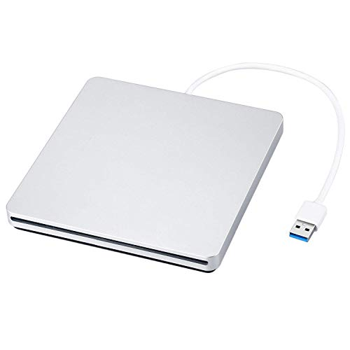 Externer DVD/CD Rewriter USB-Einschub Externer DVD/CD-Brenner Mac Pro/MacBook Pro/ASUS U306UA / ASUS/Dell Latitude mit USB-C-Anschluss (Silber) Apple Macbook Air Superdrive