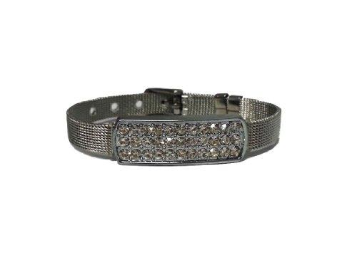 La Loria-Bracciale in acciaio inox argento, elegante bigiotteria come accessorio per o regalo