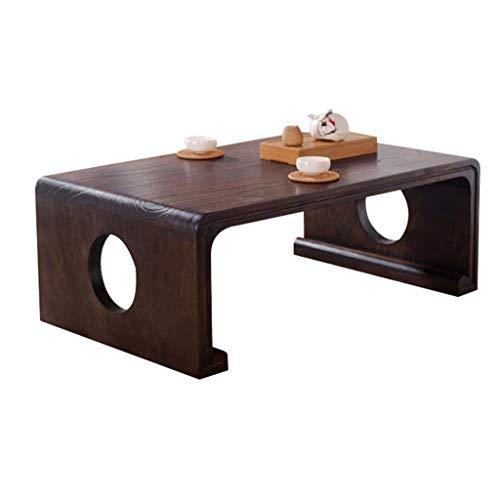 LYN Tisch Balkon Erkerfenster Tisch Couchtisch Multifunktional Tatami Tisch Arbeitszimmer Computer Schreibtisch Kleiner Tisch Geschenk, Holz, braun, 60 * 40 * 30CM -