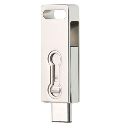 Uflatek 16 GB Speicherstick Dual Port USB-Stick Swivel Design USB 3.0 Flash-Laufwerk Silber Memory Stick Extrem Schnell U-Disk Neuheit Pendrive Externer Speicher für Geschenke