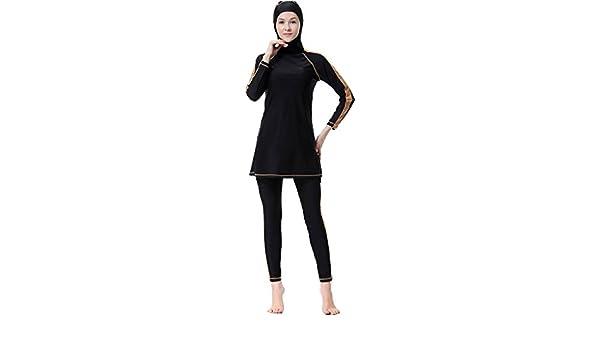 1a9997820b659 Ababalaya Womens Modest Muslim Islamic Full Coverage Hijab Burkini Swimsuit  Surfing Suit  Amazon.co.uk  Clothing