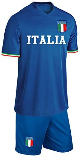 Blackshirt Company Italien Kinder Trikot Set Fußball Fan Zweiteiler Blau Größe 164 Größe 164