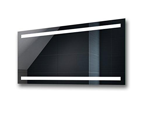 Artforma Espejo de baño con iluminación moderno e iluminado de pared, fabricado...