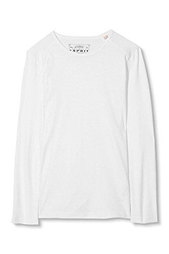 ESPRIT Herren Langarmshirt Weiß (White 100)
