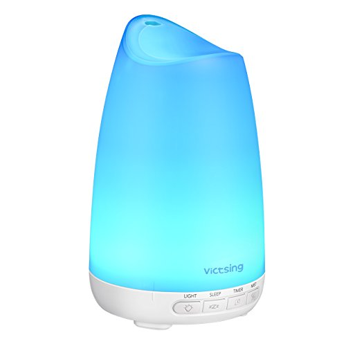 Diffusor Aromatherapie,VicTsing Aroma Diffuser 150ml Luftbefeuchter Ultraschall Vernebler, Ultra Leise Diffuser BPA-Free Öle Diffusor mit 8 Farben LED Humidifier Duftlampe für Kinderzimmer Wohn- Büro