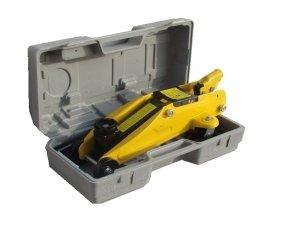 Cric/sollevatore/martinetto idraulico a carrello 2t/2000kg con valigetta