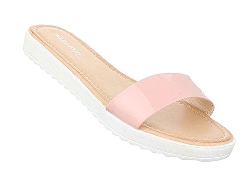 Damen Sandalen Schuhe Strandschuhe Sommerschuhe Pantoletten Rosa