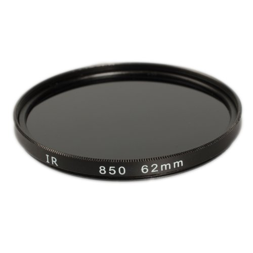 Ares Foto IR Infrarot Filter 62 mm Infrarotfilter IR850 f. alle Filtergewinde mit 62mm Ø