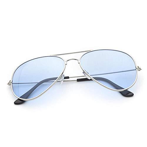 CYCY Sonnenbrillen Männer und Frauen Aviator Sonnenbrillen Classic Ocean Film Sonnenbrillen Fashion Bunte Brillen Gold Frame Blau, Gold Frame Blau