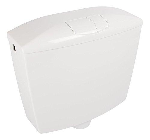 Spülkasten Karat | Kunststoff | 2 Mengen Spültechnik | 3,5 Liter oder 6-9 Liter | Tiefspülkasten | Weiß