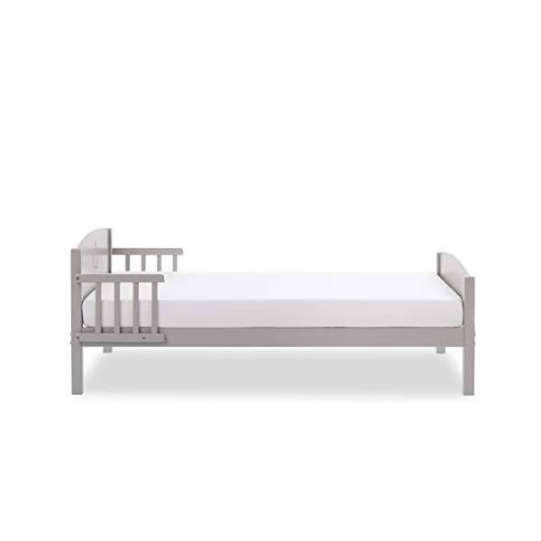Obaby Star Toddler Bed and Foam Mattress - Warm Grey Obaby Subtle and stylish design engraved into the toddler beds head end Side rails offer extra safety and reassurance Suitable from 18 months to approximately 4 years 4