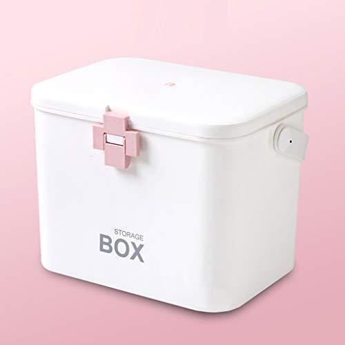HTDZDX-Erste-Hilfe-Sets mit Fächern, Notfallpaket für Medical Box Storage Organizer (Color : Pink)