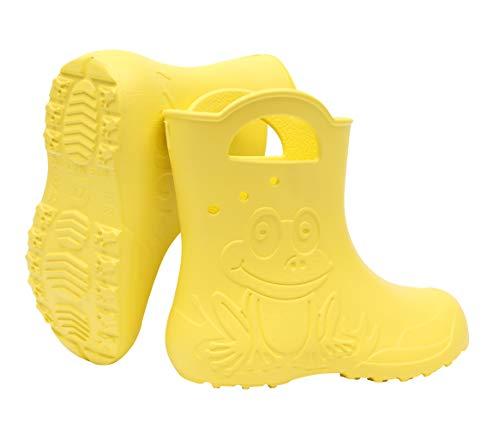 Sapro System Kids Boys Girls Wellies Rain Boots Light Children Wellington Boots EVA Frog