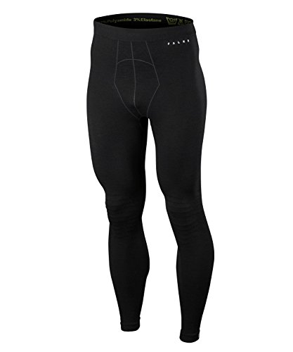 FALKE Herren Unterwäsche Wool Tech Long Tights, Black, L Tech Thermo