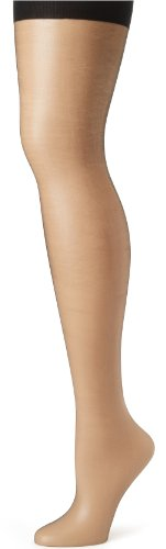 Hanes Absolutely Ultra Sheer Control Top Sheer Toe Pantyhose B Black (Control Top Strumpfhose Leg)