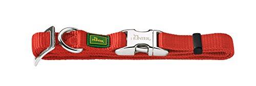 Hunter 43514 Halsung für Hunde Vario-Basic ALU-Strong S, 30-45 cm, Nylon, rot
