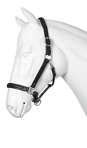 Horka Halter Leather Black/Silver Full